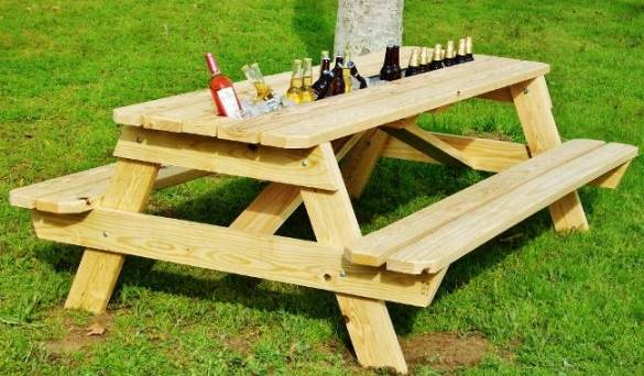 Diy picnic table plans with cooler wooden pdf wood tool Picnic table with cooler plans