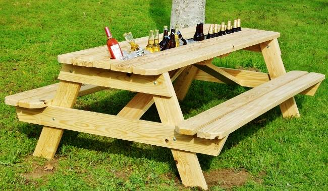Diy make picnic table download mid century modern coffee Picnic table with cooler plans
